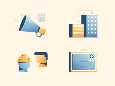 Finding Workers workers recruit texture construction illustration vector