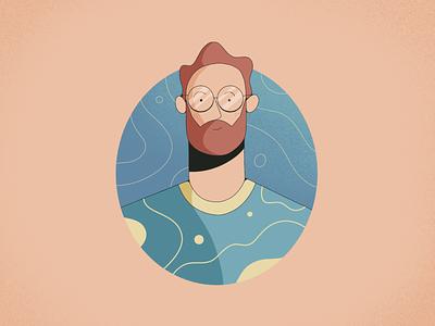 Dude portrait character procreate illustration