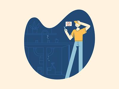 Home Maintenance plumbing home maintenance illustrator vector