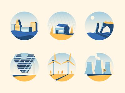 Climate Change green environment climate change illustrator illustration vector