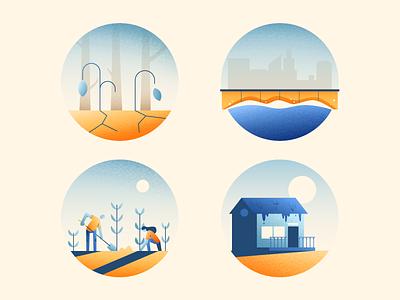 Climate Change 2 construction environment climate texture photoshop illustration