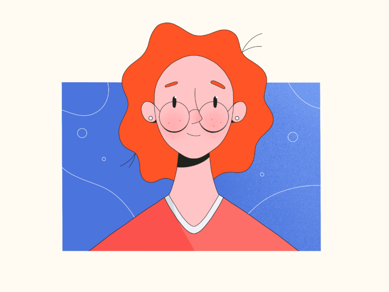 Young Ms. Frizzle? portrait character procreate illustration