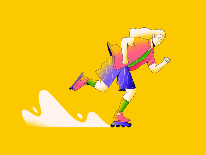 The Rad Dad character skating cool ass pops procreate illustration
