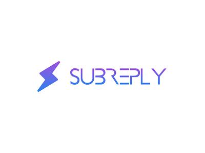 Subreply brand identity branding design logo logotype