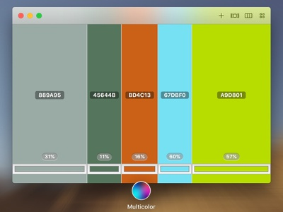 Multicolor macos app colorscheme contrast colorpicker