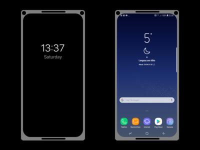 Edgeless Phone Concept