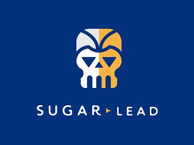 Sugar Lead  divisions skull triangle branding identity logo shading lead sugar pattern bone face head