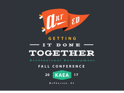 KAEA Fall Conference Logo ks mcpherson kansas art education kaea conference pennant