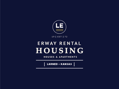 Erway Housing type apartments houses ks kansas larned housing rental logo