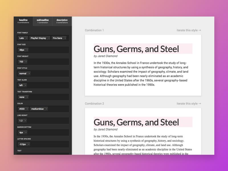 Hello Dribbble! - Typography Combination debut software type typography web app app application