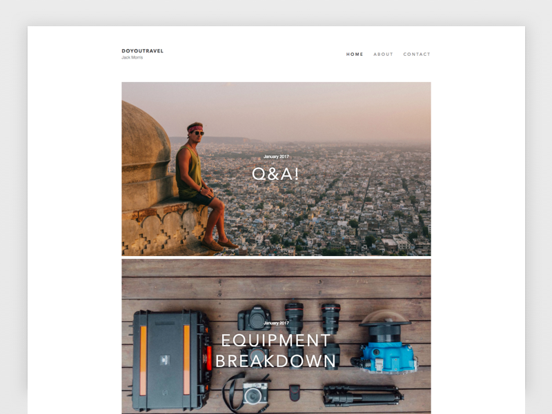 Do You Travel photography white simple minimalist wordpress theme web development web design landing page