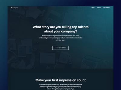 Bukapintu - Company Landing Page