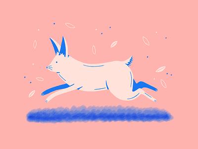 Easter bunny handdrawn animal bunnies procreate texture character fantasy bunny easter