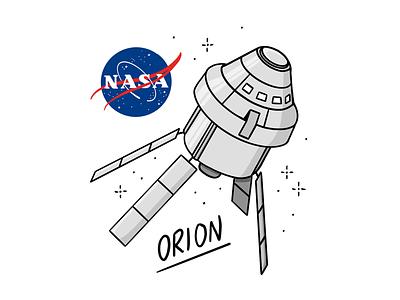 NASA 🚀 astronaut travel universe spaceship illustration procreate orion space nasa