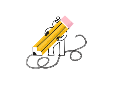 Pencil ✏️ person big drawing pen pencil procreate texture character illustration