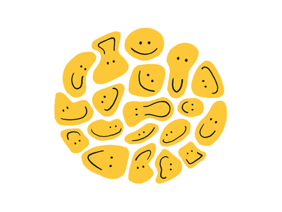 🙂🙃 faces drawing procreate smiles yellow smile face happy emoji smiley illustration