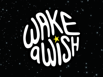 Wake A Wish branding graphic profile handlettering design logotype