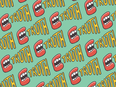 Truth mouth truth design pattern illustration