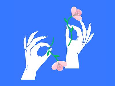 🌸👌🏼 art lines plant hands texture flowers illustration