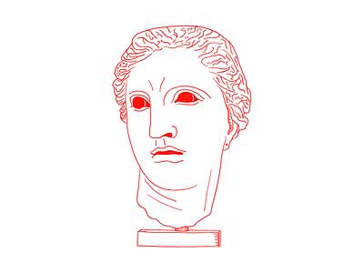 MMXIX part II greek god head face lineart character design greek goddesses illustration