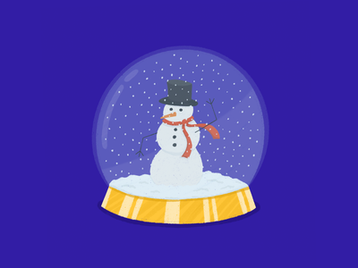Snowman ☃️ procreate christmas character texture winter snowglobe snowman character design illustration