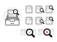 Database Search Icons