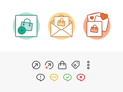 Onboarding / Universal Actions Icons curalate ui illustration icons