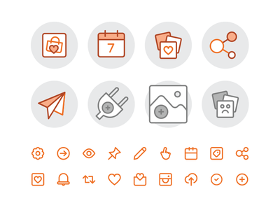 Feature and empty state Icons illustration iconography icons curalate ui