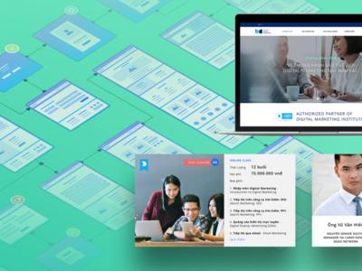 IDM Website education interface layout design website design web ui uidesign web design website