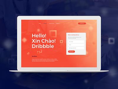 Hello! Xin Chao! Dribbble landing page website ui desktop design xin chao debut