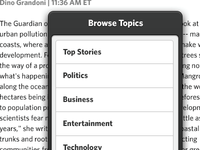Browse Topics Popover