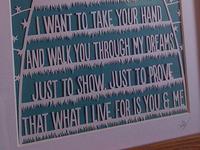"""""""You & Me"""" Papercut"""
