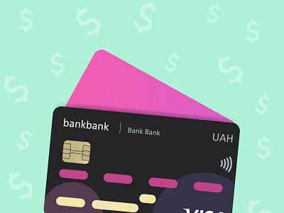 Black bank credit card illustration bank card creditcard design illustration