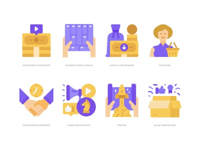 Business model canvas icons set businessman icon icondesign icon business model canvas business model