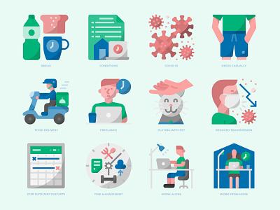 FREE 36 ICONS WORK FROM HOME coronavirus covid-19 covid19 icondesign icons icon work at home work from home
