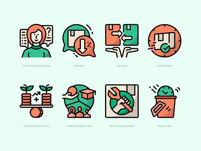Customer Validation Icons Set marketing icons business icon icon design icon customer validation
