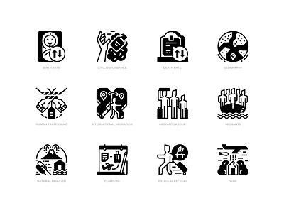 Migration migrants icon design icon refugee immigrant immigration migration