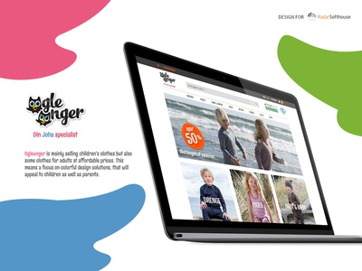Ugleunger Children's Clothes Shop ui ux ugleunger e-commerce webdesign