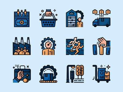 Market Economy Icons Set