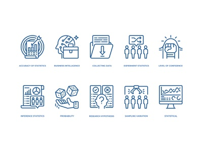 Statistical analysis icons set statistical analysis statistics icon design icons
