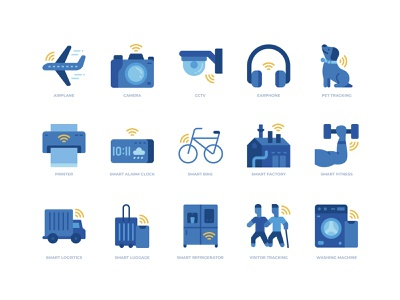 Internet of things icons set smart icon icon design internet of things