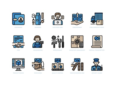 Business Process Outsourcing Icons set icon design icons icon business outsourcing outsource