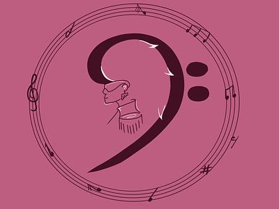 Treble fest logo digital art illustration