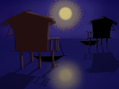 La Swamp digital art illustration