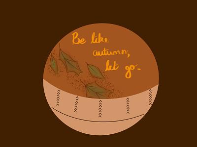 Autumn badge design branding illustration