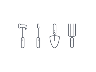 The handyman's tools icons icon design icons flat flatdesign graphic icondesign iconography tools picto pictogram vector