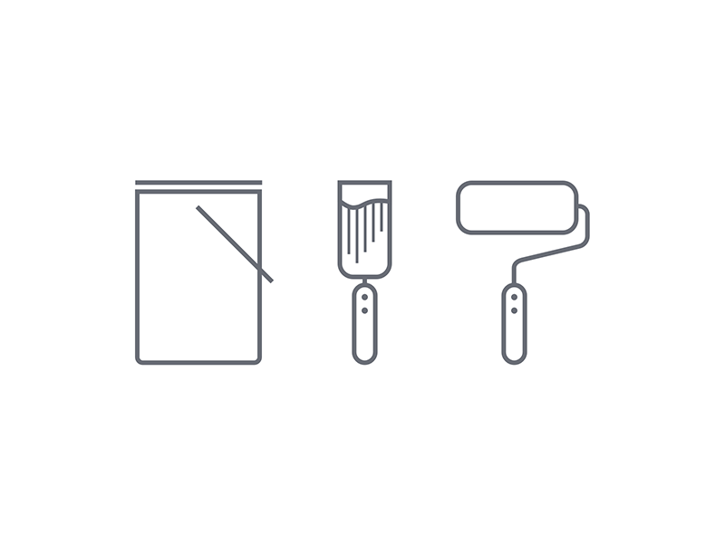 The painter's tools icons icon design icons flat flatdesign graphic icondesign iconography handyman tools pictogram vector