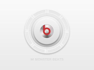 Volume Monster Beats volume button shadows effects elements white icon ui
