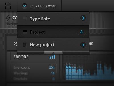 Menu Dashboard - UI/UX ui dashboard user interface app css3 html5 graph