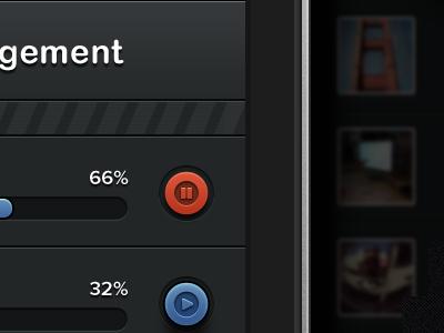 Transfr iPhone app - Queue management ui iphone app application interface ios button texture nav bar